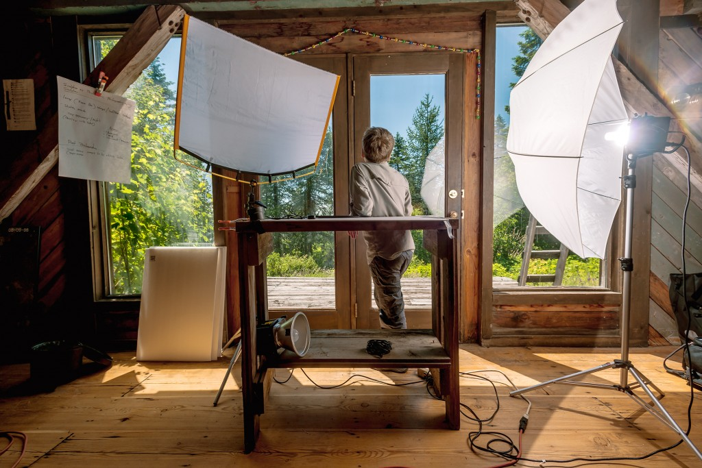 temporary lighting studio on Moscow Mountain, 7.15